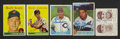 Autographs:Sports Cards, 1941-1960 Cleveland Indians Signed Card Collection (5). ... (Total:5 cards)