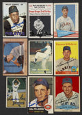 Autographs:Sports Cards, 1951-1967 Baseball Signed Card Collection (9). ...