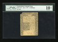 Colonial Notes:Connecticut, Connecticut July 1, 1775 10s Uncancelled PMG Net Very Good 10....