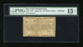 Colonial Notes:New York, New York August 25, 1774 (Water Works) 2s PMG Net Choice Fine15....