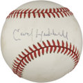 Autographs:Baseballs, Carl Hubbell Single Signed Baseball....