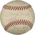 Autographs:Baseballs, 1948 Philadelphia A's Team Signed Baseball....