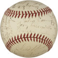 Autographs:Baseballs, 1942 Boston Braves Signed Baseball with Paul Waner. ...