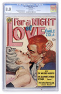 Golden Age (1938-1955):Romance, For a Night of Love #nn (Avon, 1951) CGC VF 8.0 White pages....