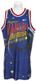 Basketball Collectibles:Uniforms, Circa 2002 Magic Johnson Game Issued Harlem GlobetrottersJersey....