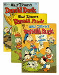 Golden Age (1938-1955):Cartoon Character, Four Color #223, 238, and 408 Donald Duck Group (Dell, 1949-52)Condition: Average VG-.... (Total: 4 Comic Books)