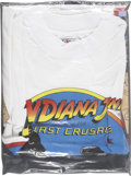 Memorabilia:Movie-Related, Indiana Jones and the Last Crusade Movie Poster and PromoT-Shirt (Paramount, 1989).... (Total: 2 Items)