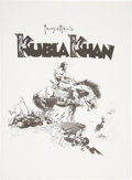 Memorabilia:Comic-Related, Frank Frazetta's Kubla Khan Portfolio #234/1500 (FrazettaPrints, 1977)....