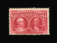 #244, 1893, $4 Crimson Lake, F 70 PSE. (Original Gum - Previously Hinged)