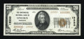 National Bank Notes:Nebraska, Lincoln, NE - $20 1929 Ty. 2 The Continental NB Ch. # 13333. ...