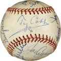 Autographs:Baseballs, 1960's-70's Hall of Famers Multi-Signed Baseball with Cobb, Ted Williams....