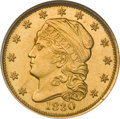 Early Quarter Eagles, 1830 $2 1/2 MS64 NGC....