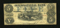 Canadian Currency: , Toronto, ONT- International Bank $5 Sep. 15, 1858 Charlton380-10-14-16.. ...