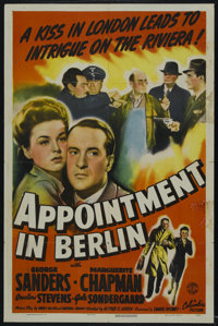 "Appointment in Berlin (Columbia, 1943). One Sheet (27"" X 41""). War. Starring George Sanders, Marguerite Chapma..."