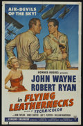 "Movie Posters:War, Flying Leathernecks (RKO, 1951). One Sheet (27"" X 41""). War.Starring John Wayne, Robert Ryan, Don Taylor, Janis Carter, Jay..."