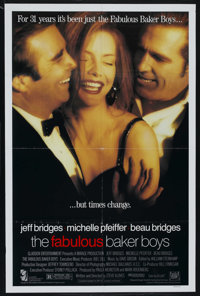 "The Fabulous Baker Boys (20th Century Fox, 1989) DS. One Sheet (27"" X 41"") . Romance. Starring Jeff Bridges, M..."