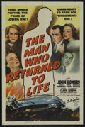 """Movie Posters:Drama, The Man Who Returned to Life (Columbia, 1942). One Sheet (27"""" X 41""""). Drama. Starring John Howard, Lucile Fairbanks, Ruth Fo..."""