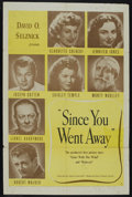 "Movie Posters:Drama, Since You Went Away (United Artists, 1944). One Sheet (27"" X 41""). Drama. Starring Claudette Colbert, Jennifer Jones, Joseph..."