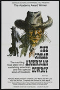 """Movie Posters:Documentary, The Great American Cowboy (Warner Brothers, 1973). One Sheet (27"""" X 41""""). Documentary. Starring Larry Mahan, Phil Lyne, Joel..."""
