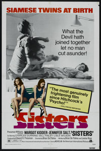 "Sisters (American International, 1973). One Sheet (27"" X 41""). Horror. Starring Margot Kidder, Jennifer Salt..."