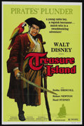 "Movie Posters:Adventure, Treasure Island (Buena Vista, R-1975). One Sheet (27"" X 41"").Adventure. Starring Bobby Driscoll, Robert Newton, Basil Sydne..."