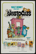 "Movie Posters:Animated, The Aristocats (Buena Vista, 1970). One Sheet (27"" X 41"").Animated. Starring Eva Gabor, Phil Harris, Hermione Baddeley,Rod..."