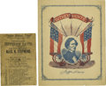 """Military & Patriotic:Civil War, Two Confederate Political Imprints, the first being """"Virginia Electoral Ticket Election November 6th, 1861. For President, J... (Total: 2 )"""