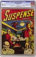 Golden Age (1938-1955):Horror, Suspense Comics #1 Mile High pedigree (Continental Magazines, 1943)CGC VF+ 8.5 White pages....