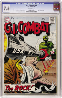 G.I. Combat #68 (DC, 1959) CGC VF- 7.5 Off-white pages