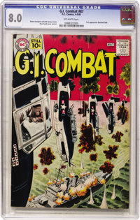 G.I. Combat #87 (DC, 1961) CGC VF 8.0 Off-white pages