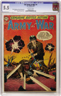 Golden Age (1938-1955):War, Our Army at War #1 (DC, 1952) CGC FN- 5.5 Off-white pages....