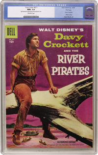 Four Color #671 Davy Crockett - File Copy (Dell, 1955) CGC NM+ 9.6 Off-white pages