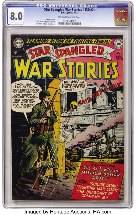 Star Spangled War Stories #132 (#2) (DC, 1952) CGC VF 8.0 Off-white to white pages....