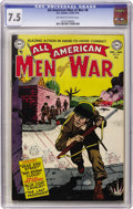 Golden Age (1938-1955):War, All-American Men of War #8 (DC, 1953) CGC VF- 7.5 Off-white towhite pages....
