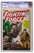 Golden Age (1938-1955):War, Our Fighting Forces #1 (DC, 1954) CGC FN/VF 7.0 Cream to off-whitepages....