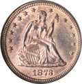 Seated Quarters, 1873 25C Closed 3 MS63 NGC....