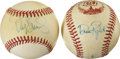 Autographs:Baseballs, Dave Righetti and Darryl Strawberry Single Signed Baseballs. ...(Total: 2 items)