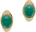Estate Jewelry:Other , Pair of Emerald, Diamond, Gold Slides. ... (Total: 2 Items)