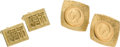 Estate Jewelry:Cufflinks, Pair of Gold Coin, Gold Cuff Links . ... (Total: 4 Items)