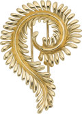 Estate Jewelry:Brooches - Pins, Gold Clip-Brooch, Schlumberger, Tiffany & Co.. ...