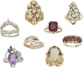 Estate Jewelry:Rings, Lot of Diamond, Multi-Stone, Gold Rings. ... (Total: 8 Items)