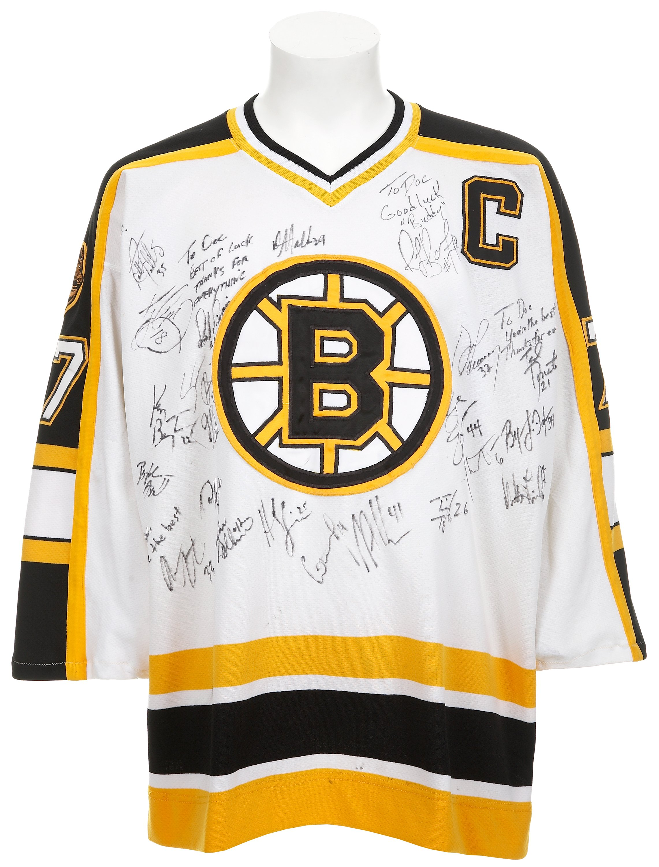 hot sale online 6c8cc 4ac15 1997-98 Ray Bourque Game Worn Jersey Signed by Boston Bruins ...