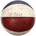 Basketball Collectibles:Balls, 1971-72 Virginia Squires Team Signed ABA Basketball with Rookie Erving....
