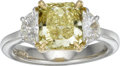Estate Jewelry:Rings, Colored Diamond, Diamond, Gold, Platinum Ring. ...