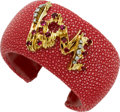 Estate Jewelry:Bracelets, Ruby, Diamond, Gold, Shagreen Bracelet . ...