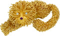 Estate Jewelry:Brooches - Pins, Diamond, Ruby, Gold Brooch, Lalaounis. ...