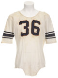 Football Collectibles:Uniforms, 1961 John Nichols Game Worn Jersey....