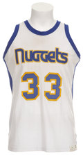 Basketball Collectibles:Uniforms, Late 1970's David Thompson Game Worn Jersey....
