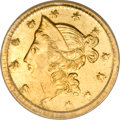 California Fractional Gold, 1853 50C Liberty Round 50 Cents, BG-417, High R.5, MS64 PCGS....