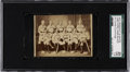 Baseball Cards:Singles (Pre-1930), 1875 Prescott & White CDV Hartford Dark Blues SGC 20 FR 1.5 -With Candy Cummings! ...